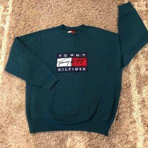 Tommy Hilfiger Vintage Mens Large Green Sweatshirt